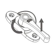 月牙锁左右式调节方法