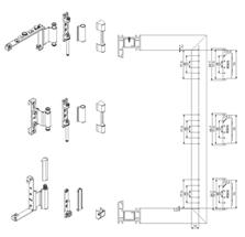 塑钢角部铰链B型打孔图