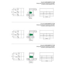 塑钢门窗产品系列开孔图